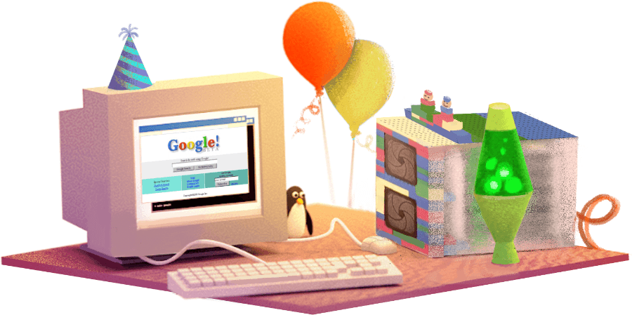 Google is celebrating its 17th birthday with a commemorative Doodle
